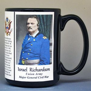 Israel Richardson, Union Army, US Civil War biographical history mug.