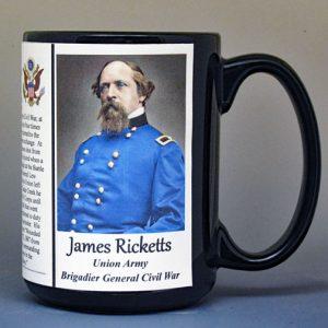 James Ricketts, Union Army, US Civil War biographical history mug.