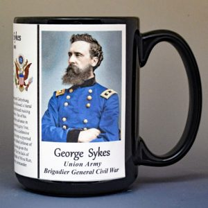 George Sykes, Brigadier General Union Army, US Civil War biographical history mug.