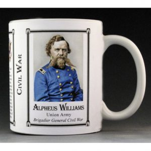 Alpheus Williams Civil War Union Army history mug.