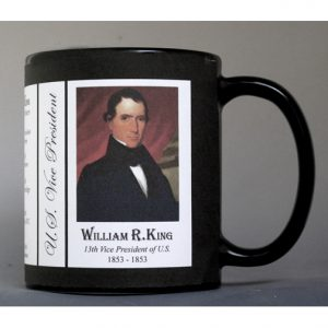 William King US Vice President history mug.