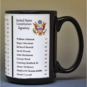 All the signatories on the US Constitution biographical history mug.