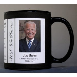 Joe Biden US Vice President biographical history mug.