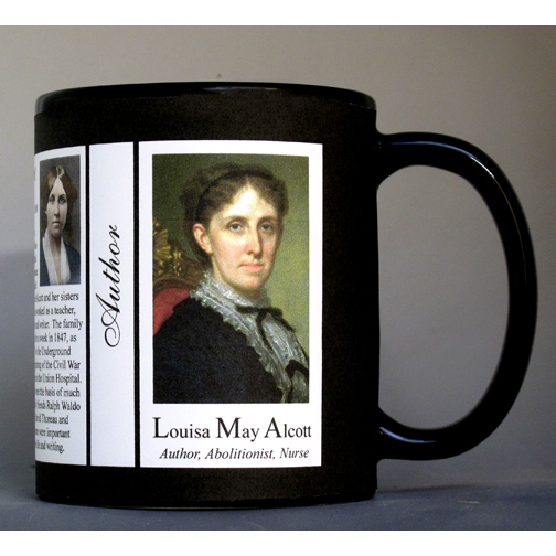 Louisa May Alcott author history mug.