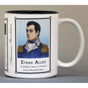 Ethan Allen Revolutionary War biographical history mug.