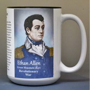 Ethan Allen, Revolutionary War biographical history mug.