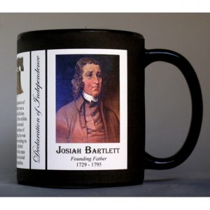 Josiah Bartlett Declaration of Independence signatory history mug.