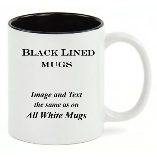 Black Lined White mug, same copy as the All-White mug.