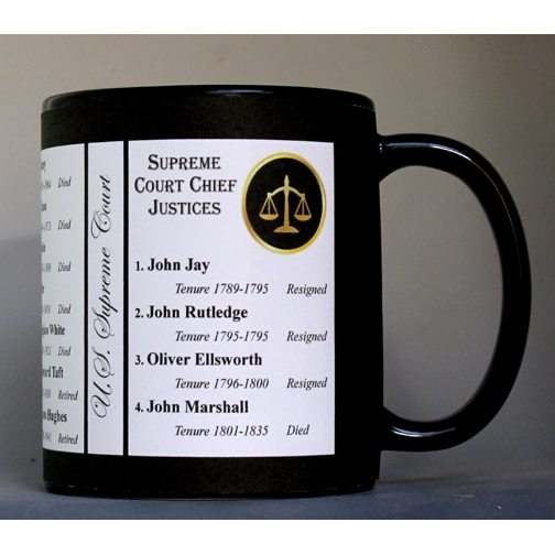 All of the US Supreme Court Chief Justices history mug.