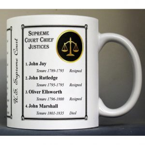 All U.S. Supreme Court Chief Justices history mug.