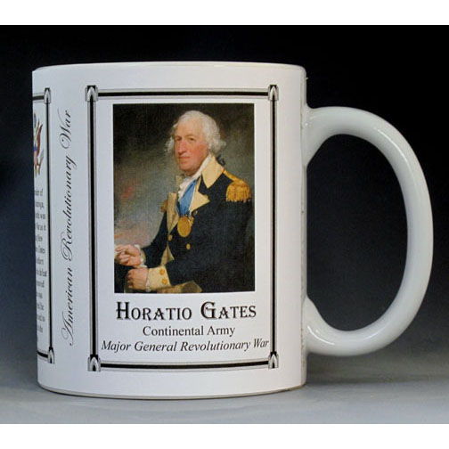 Horatio Gates Revolutionary War history mug