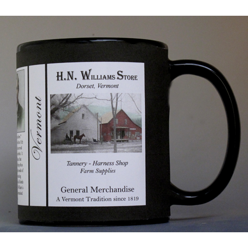 H.N. Williams Store Vermont history mug.