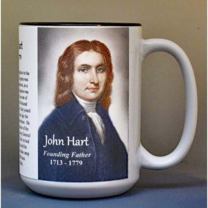 John Hart, Declaration of Independence signatory biographical history mug.