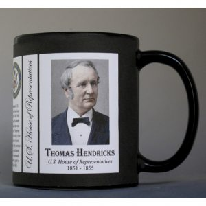 Thomas Hendricks US Representative history mug.