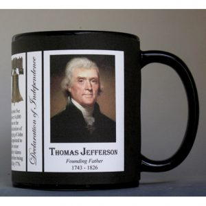 Thomas Jefferson Declaration of Independence signatory history mug.