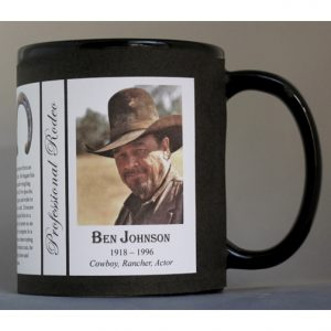 Ben Johnson Pro-Rodeo biographical history mug.