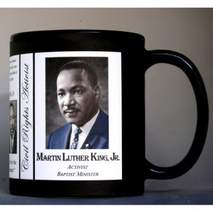 Martin Luther King, Jr. Civil Rights Activist history mug.