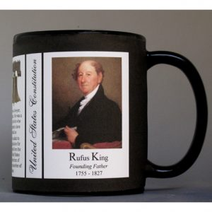 Rufus King US Constitution history mug.
