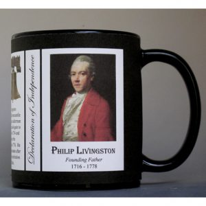 Philip Livingston Declaration of Independence signatory history mug.