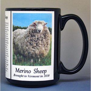 Merino Sheep, Vermont biographical history mug.