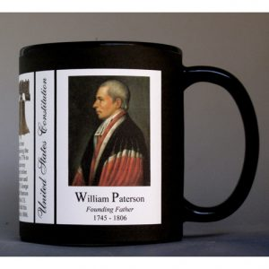 William Paterson US Constitution history mug.