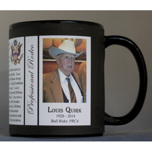Louis Quirk Pro-Rodeo history mug.