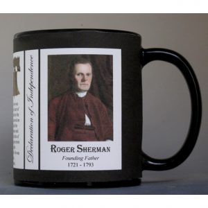 Roger Sherman Declaration of Independence signatory history mug.