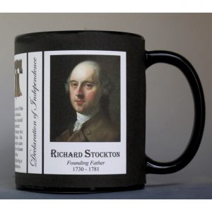 Richard Stockton Declaration of Independence signatory history mug.