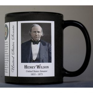 Henry Wilson US Senator who became Vice President of the United States history mug.