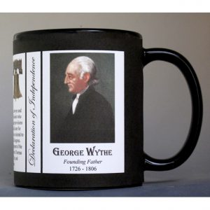 George Wythe Declaration of Independence signatory history mug.