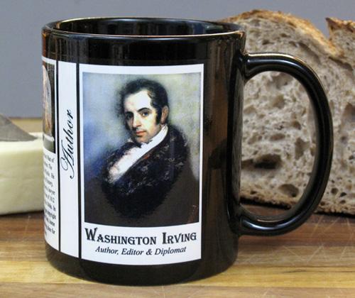 Washington Irving history mug.