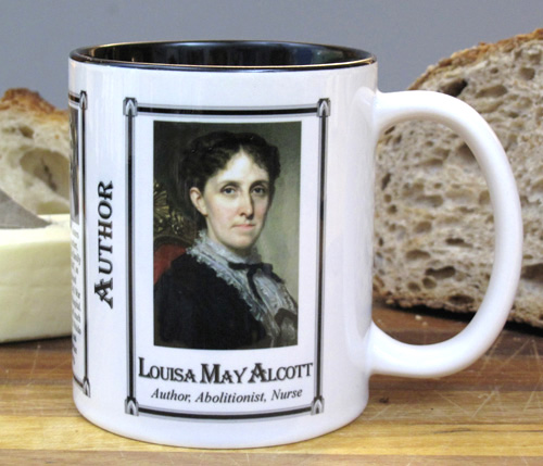 Louisa May Alcott history mug.