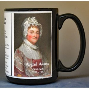 Abigail Adams US First Lady biographical history mug.