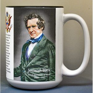 Jeremiah Black, US Secretary of State biographical history mug.