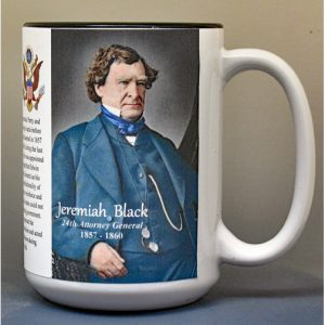 Jeremiah Black, US Attorney General biographical history mug.