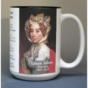 Louisa Adams, US First Lady biographical history mug.