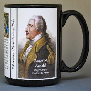 Benedict Arnold, Revolutionary War biographical history mug.