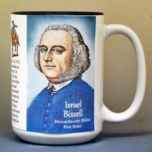 Israel Bissell, American Revolutionary War biographical history mug.