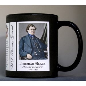 Jeremiah Black US Attorney General biographical history mug.