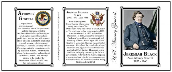 Jeremiah Black US Attorney General history mug tri-panel.
