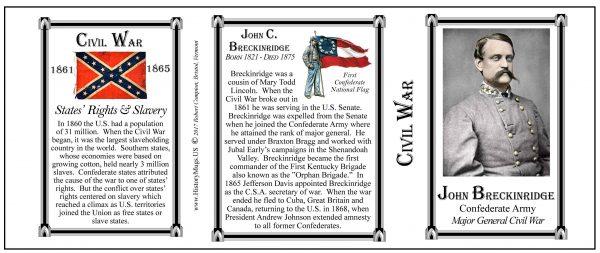 John Breckinridge Civil War Confederate Army & Navy history mug tri-panel.
