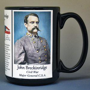 John Breckinridge, US Civil War biographical history mug.