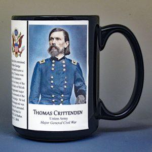 Thomas Crittenden, Union Army, US Civil War biographical history mug.