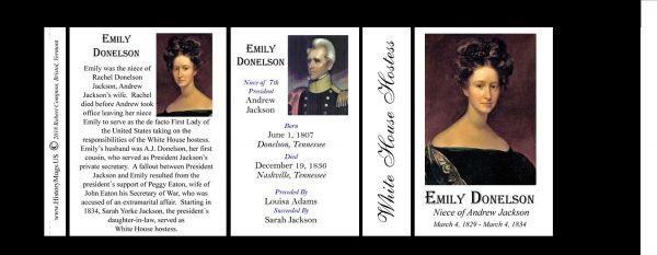 Emily Donelson  US First Lady history mug tri-panel.