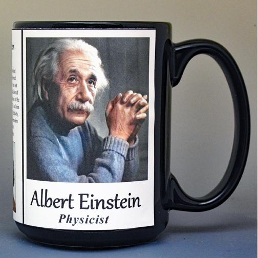 Albert Einstein history mug.