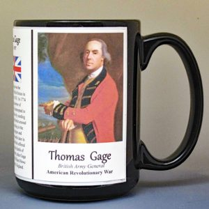 Thomas Gage, American Revolutionary War biographical history mug.