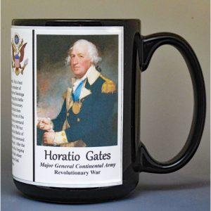 Horatio Gates, American Revolutionary War biographical history mug.