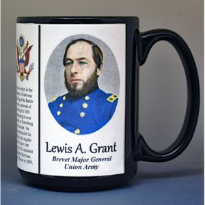 Lewis A. Grant, Medal of Honor, Union Army, US Civil War biographical history mug.