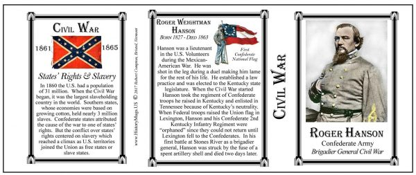 Roger Hanson Civil War Confederate Army & Navy history mug tri-panel.
