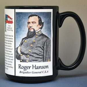 Roger Hanson, US Civil War biographical history mug.